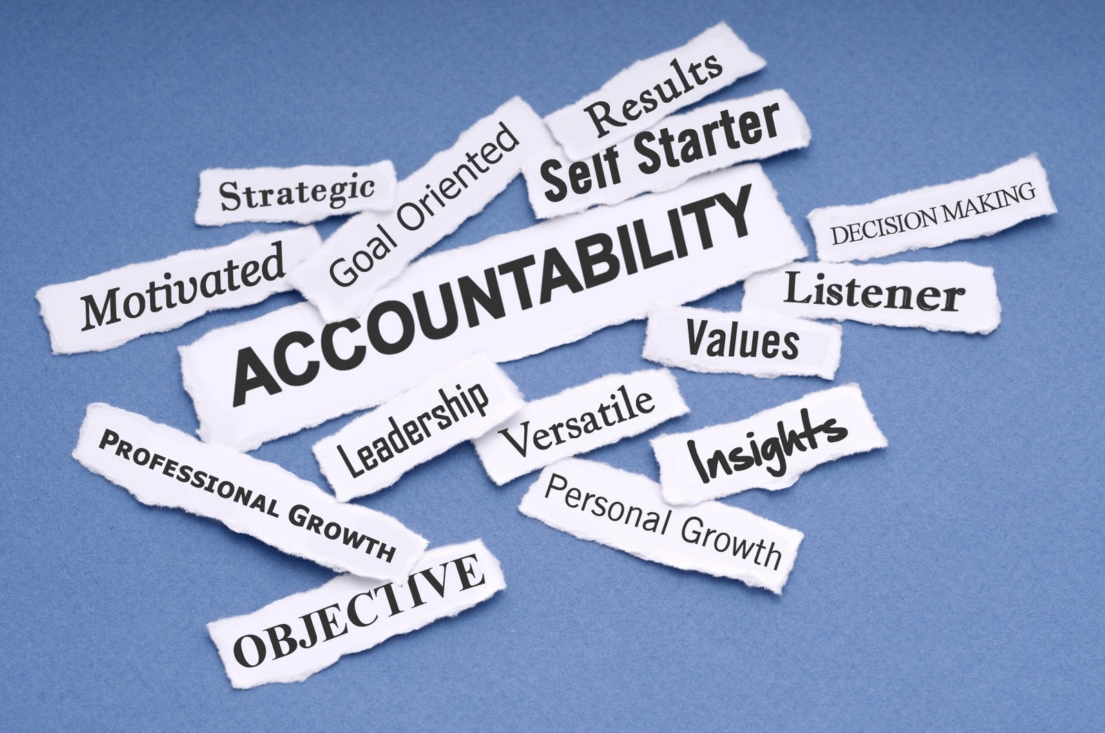 THE ANSWER IS ACCOUNTABILITY